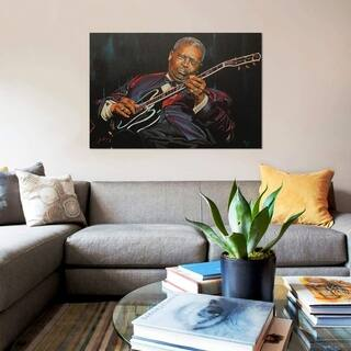 """iCanvas """"King of the Blues"""" by Mark Fox Gallery-Wrapped Canvas Print"""