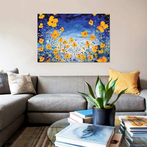 """iCanvas """"Evening Poppies"""" by Lisa Elley Gallery-Wrapped Canvas Print"""