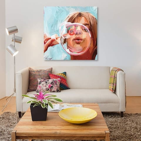 """iCanvas """"Blowing Bubbles"""" by Teddi Parker Gallery-Wrapped Canvas Print"""