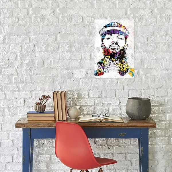"""iCanvas """"Nipsey"""" by Streetsky Gallery-Wrapped Canvas Print"""