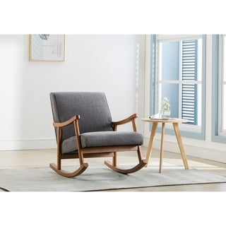 Link to Porthos Home Hayes Rocking Accent Chair, Hemp Upholstery, Wooden Legs Similar Items in Accent Chairs
