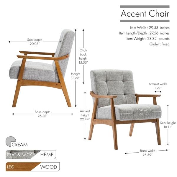 Carson Carrington Ingerod Hemp Upholstery Accent Slipper Chair