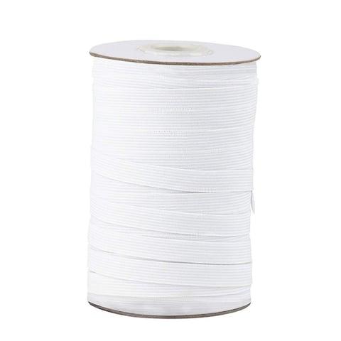 "Elastic Spool White Sewing Elastic Band Stretchy Waistband, 109 Yards 0.5"" Wide"