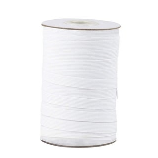 "Link to Elastic Spool White Sewing Elastic Band Stretchy Waistband, 109 Yards 0.5"" Wide Similar Items in Notions"