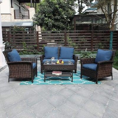 Blue Wicker Patio Furniture Find