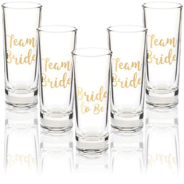 8X TEAM BRIDE /& 1X BRIDE TO BE SHOT GLASSES GLASS HEN PARTY NIGHT DO BRIDE TO BE
