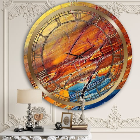 Designart 'Breaking Marble' Glam Wall Clock