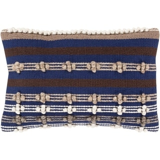 Gurley Hand Woven Geometric 14x22-inch Lumbar Throw Pillow Cover