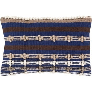 The Curated Nomad Barneson Handwoven Geometric 14x22-inch Pillow with Down or Poly Fill