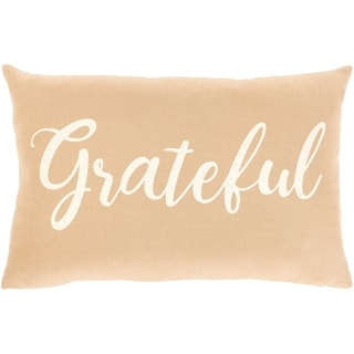 "Porch & Den Vernonia Linen ""Grateful"" Lumbar Throw Pillow"