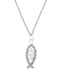 Mondevio Sterling Silver Hope Fish Necklace