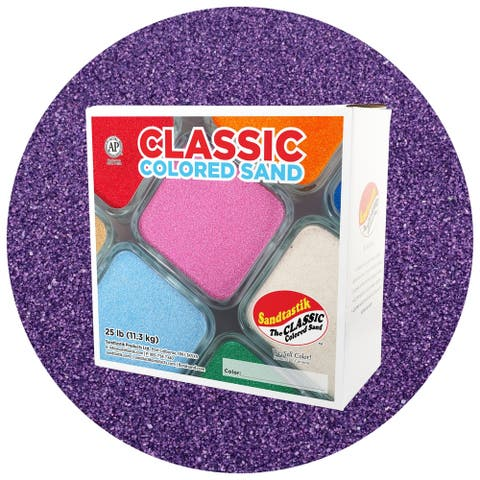 Sandtastik® Classic Colored Sand, Purple, 25 lb (11.3 kg) Box