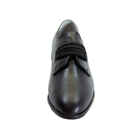 PEERAGE Raina Women Extra Wide Width Leather Policeman Style Shoes
