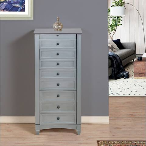8 Drawer Jewelry Armoire with Cushions