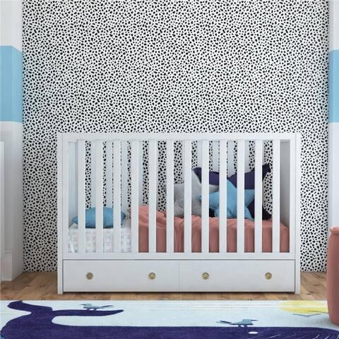 Novogratz Rue 3-in-1 Convertible Baby crib with Storage Drawer