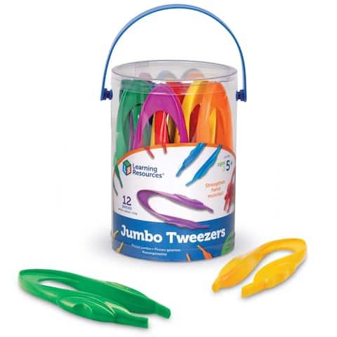 Learning Resources Jumbo Tweezers Set, 12 Per Pack
