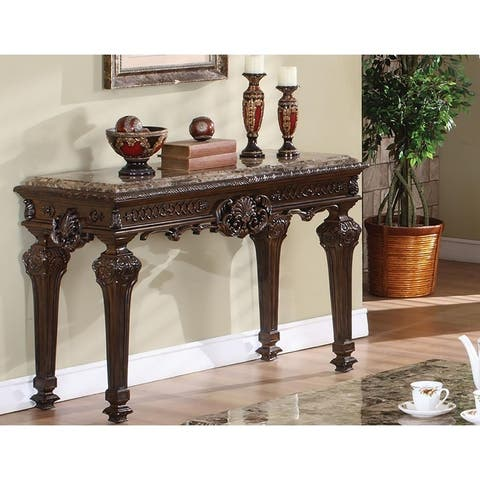 Best Master Furniture Cherry Marble Sofa Table