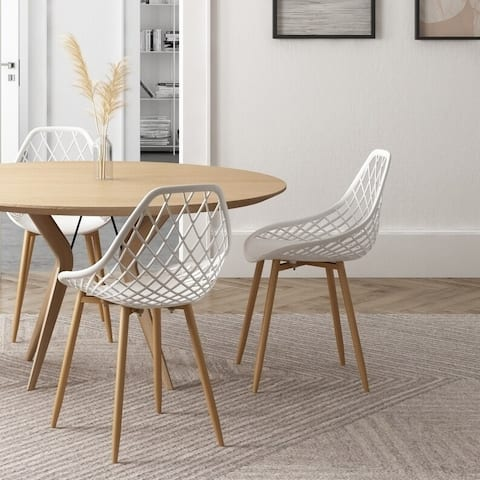 Carson Carrington Tackbyn Mid-Century Curved Dining Chair (Set of 2) - Set of 2