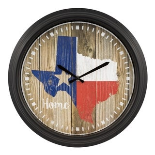 "La Crosse Clock 404-3840TX 15.75"" Indoor/Outdoor Texas Quartz Clock"