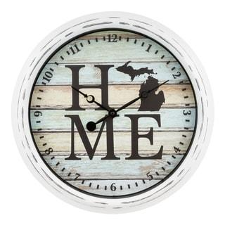 "La Crosse Clock 404-3840MI 15.75"" Indoor/Outdoor Michigan Wall Clock"