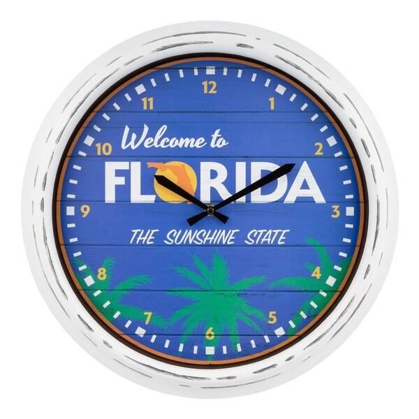"La Crosse Clock 404-3840FL 15.75"" Indoor/Outdoor Florida Quartz Clock"