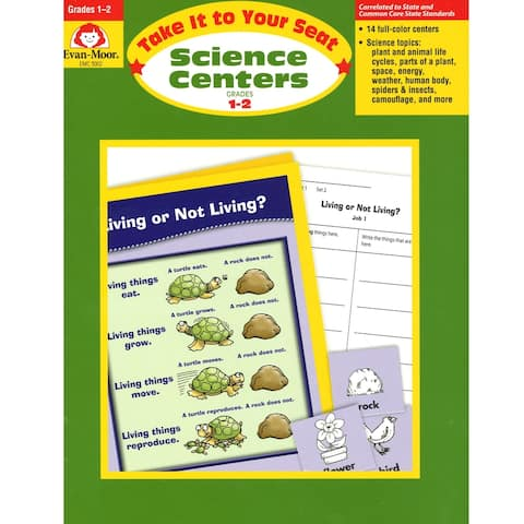 Evan-Moor® Take It to Your Seat Science Centers Book, Grades 1-2