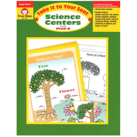 Evan-Moor® Take It to Your Seat Science Centers Book, Grades PreK-K