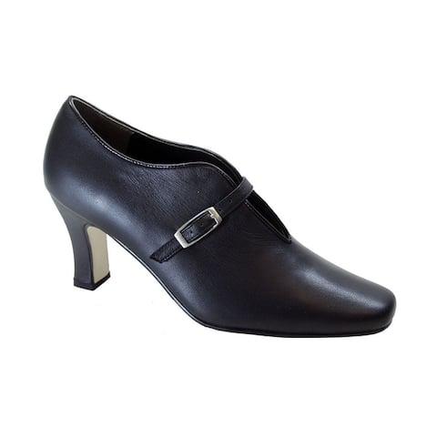PEERAGE Jude Women Extra Wide Width Comfort Closed Toe Leather Pumps