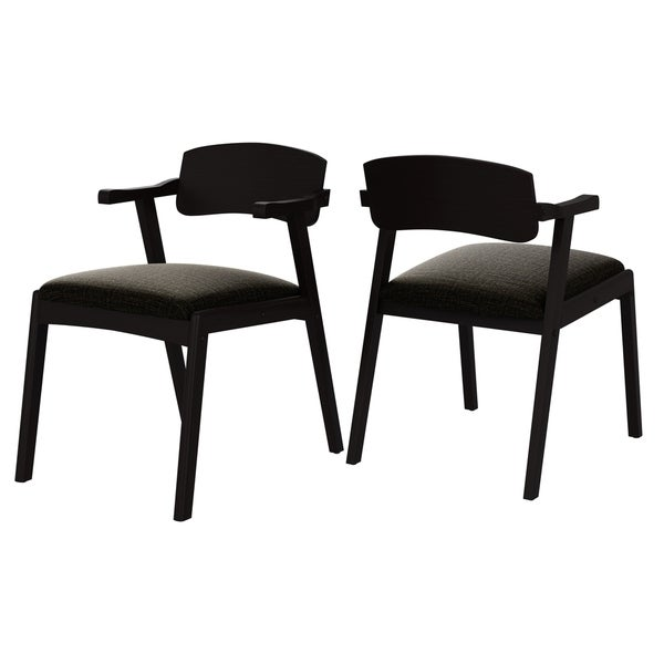 Carson Carrington Comiskey Espresso Finish Arm Dining Chair with Back (Set of 2). Opens flyout.