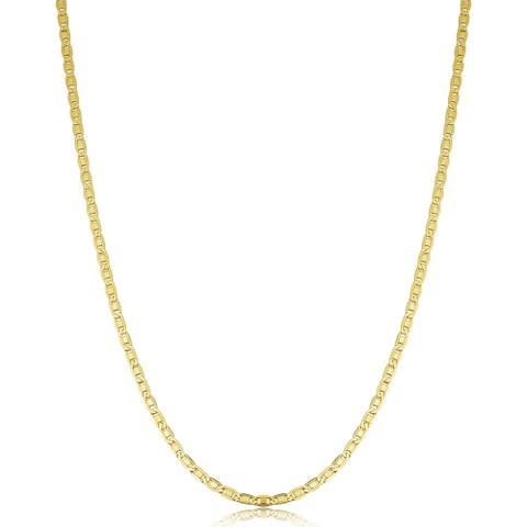 14K Yellow Gold Filled 2.2 millimeters Solid Valentino Chain Necklace (16 - 30 inches)