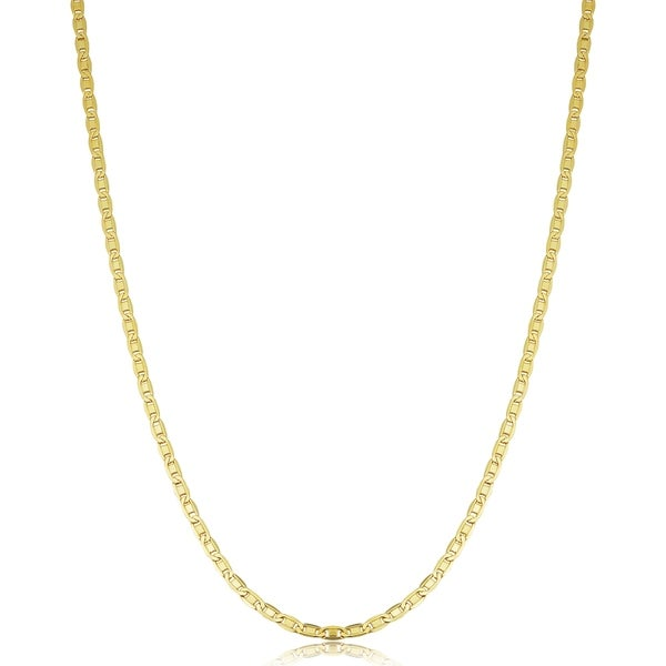 14K Yellow Gold Filled 2.2 millimeters Solid Valentino Chain Necklace (16 - 30 inches). Opens flyout.
