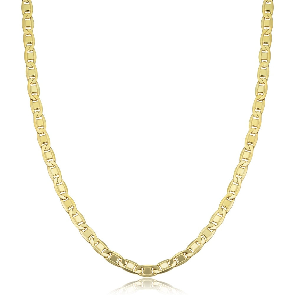 Gold Plated Chain Twisted Rope Vintage Shiny Classic Everyday Wear Elegant Braided Multi Strand Statement Gold Unisex Necklace Aleks Jewelry