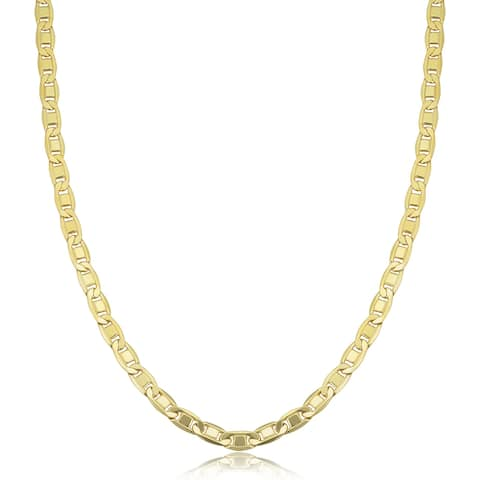 14K Yellow Gold Filled 4.4 millimeters Solid Valentino Chain Necklace (16 - 30 inches)
