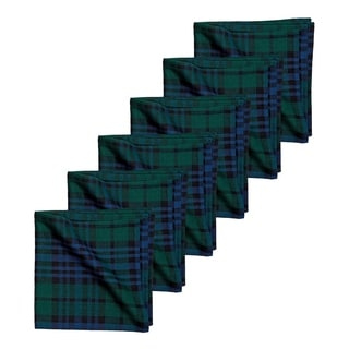 Black Watch Plaid Napkin Set of 6 - 18 x 18