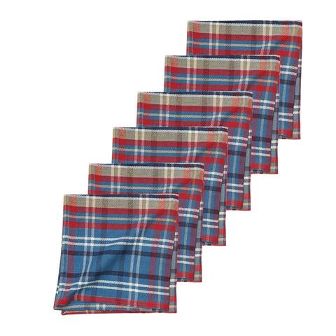 Rockwell Plaid Napkin Set of 6 - 18 x 18