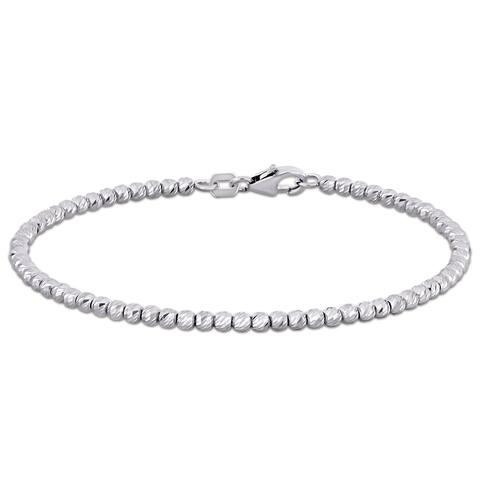 Miadora 18k White Gold Beaded Bracelet