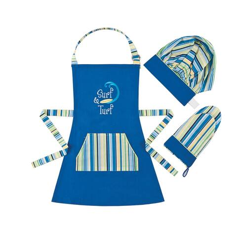 Surf & Turf Children's Apron Set - 18 x 24