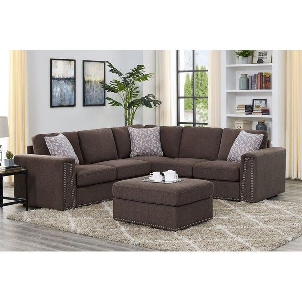 Symmetrical Modular Sectional With Ottoman