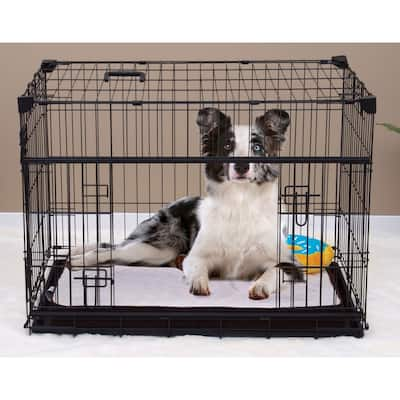 Lucky Dog Sliding Double Door Dog Crate - 2nd Side Door Access