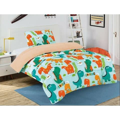Taylor & Olive Twin-size Plush Dinosaur Bedding Set