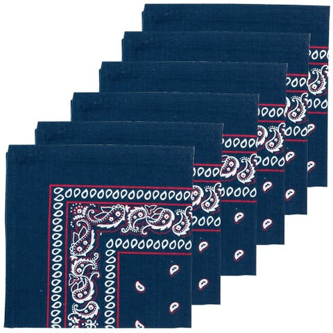 Bandana Navy Napkin Set of 6 - 18 x 18