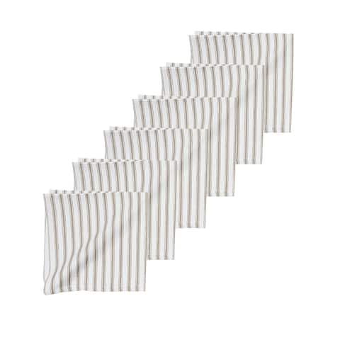 Ticking Stripe Napkin Set of 6 - 18 x 18