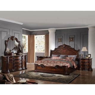 Best Master Furniture 5 Pieces Traditional Walnut Bedroom