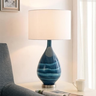 "Link to Cisconti 27"" Blue Glass Table Lamp Similar Items in Table Lamps"