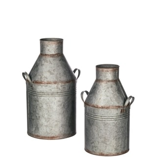 Milk Can Planter - Set of 2