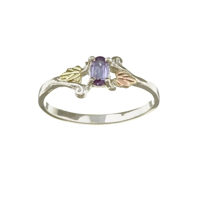 Black Hills Gold and Silver June Birthstone Ring