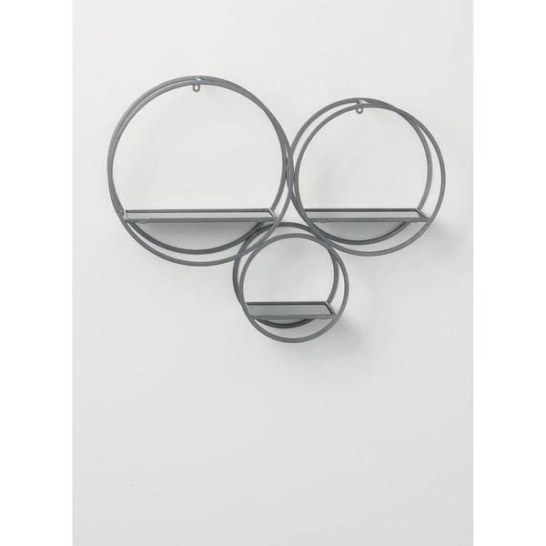 "Modern Wall Shelves - 3 Cirlce Shelf - 30.75""L x 8""W x 23.5""H"
