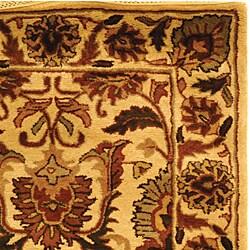 Safavieh Handmade Classic Jaipur Gold Wool Rug (3' x 5') - Thumbnail 1