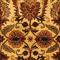 Safavieh Handmade Classic Jaipur Gold Wool Rug (3' x 5') - Thumbnail 2