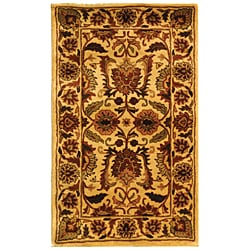 Safavieh Handmade Classic Jaipur Gold Wool Rug - 3' x 5' - Thumbnail 0